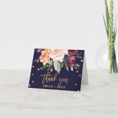 Autumn Floral Wedding Thank You Invitations