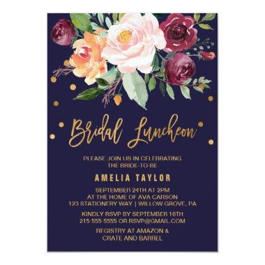 Autumn Floral with Wreath Backing Bridal Luncheon