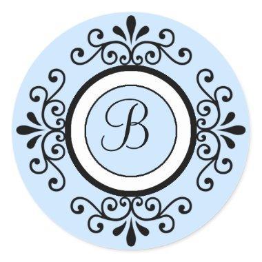 B Monogram Wedding Envelope Seal Stickers