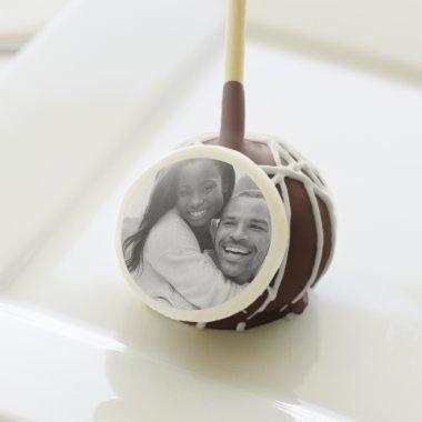 B&W Engagement Photo Wedding Custom Color Cake Pop
