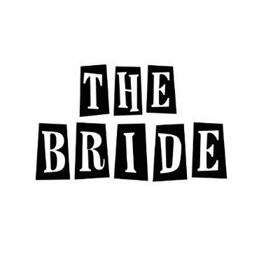 B&W Retro Stamp - The Bride Cutout