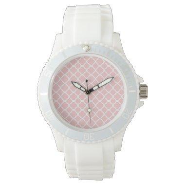 Baby Pink Quatrefoil Wrist Watch