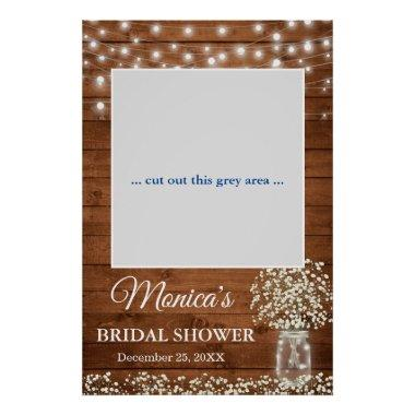 Baby's Breath Mason Jar Bridal Shower Photo Prop Poster