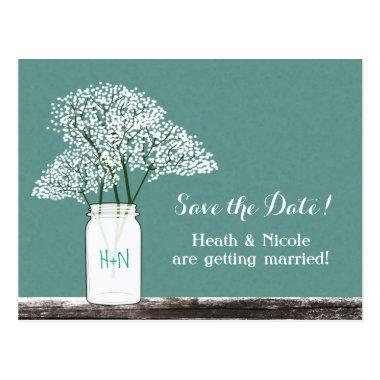 Baby's Breath Mason Jar Save The Date Post
