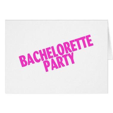 Bachelorette Party Bridesmaids Pink