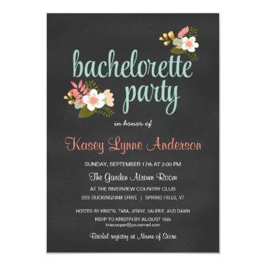 Bachelorette Party Floral Chalkboard