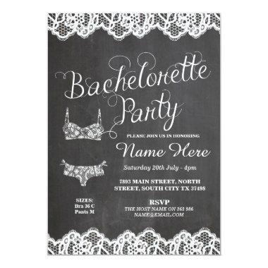 Bachelorette Party Lingerie Shower Bridal Invite