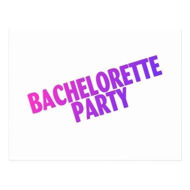 Bachelorette Party Pink Purple Blue Post