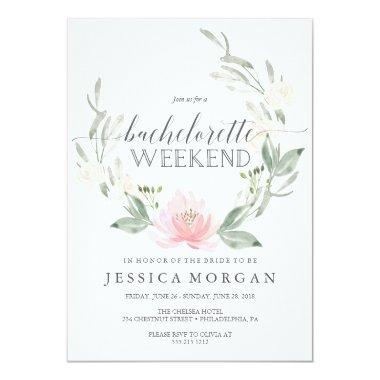 Bachelorette Weekend Itinerary Pastel Blush