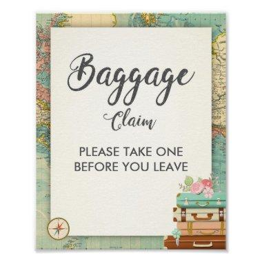 Baggage Claim Sign Travel shower Miss to Mrs Favor