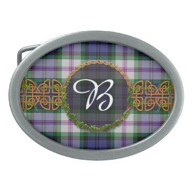 Baird Dress Tartan And Monogram Oval Belt Buckle