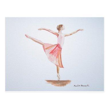 Ballerina watercolour painting post