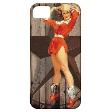 Barn wood Lone Star western country Cowgirl iPhone SE/5/5s Case