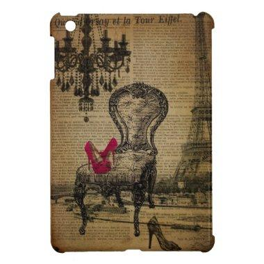 baroque chandelier rococo paris eiffel tower case for the iPad mini