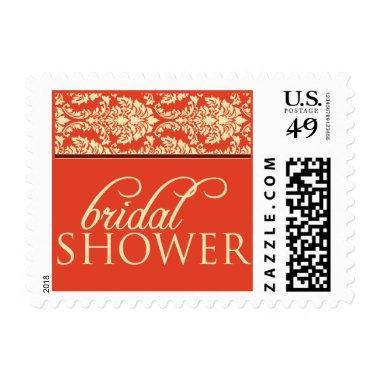 Baroque Elegance Bridal Shower Stamp (coral)