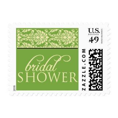 Baroque Elegance Bridal Shower Stamp (lime green)