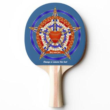 Baseball Match Tailgate Table Love-Heart View Hint Ping-Pong Paddle