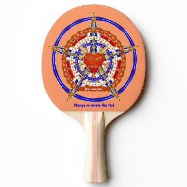 Baseball Match Tailgate Table Love-Heart View Hint Ping Pong Paddle