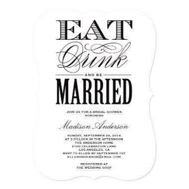 Be Married | Bridal Shower Invitations