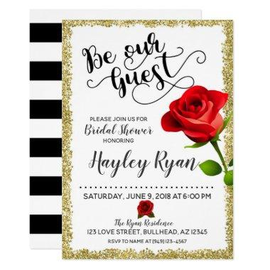 Be Our Guest Bridal Shower Invitations