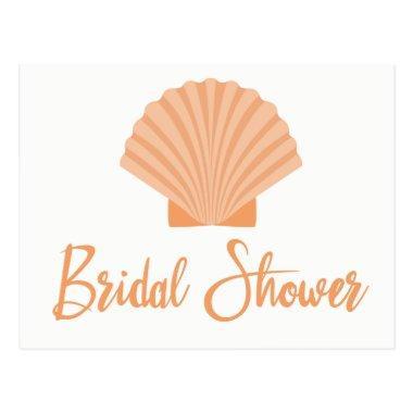 Beach  Seashell Orange Wedding Post