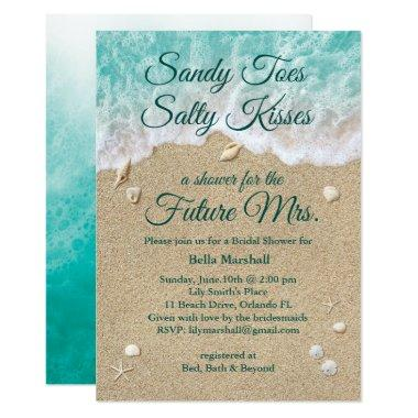 Beach Waves Bridal Shower Invitations