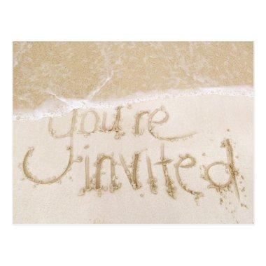 Beach Wedding  Invitation--Sand & Sea Post