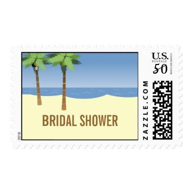 Beach Wedding  Postage Stamps Cream