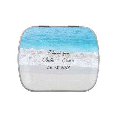 Beach wedding favors beach1 jelly belly candy tin