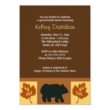 BEAR Rustic Lodge style  Invite