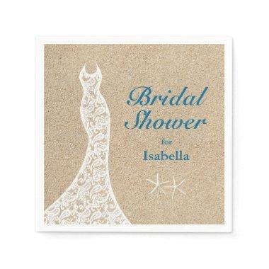 Beautiful Beach Bridal Shower Napkin