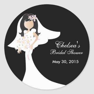 Beautiful Bride  Classic Round Sticker