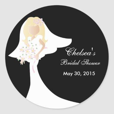 Beautiful Bride  Classic Round Sticker