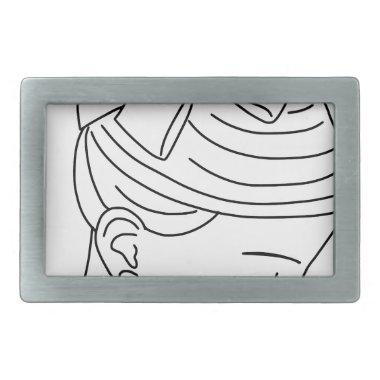 Beautiful Bride Profile Face Belt Buckle
