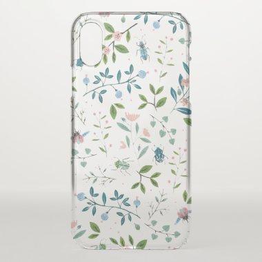 Beautiful Clear Flowers iPhone X Case