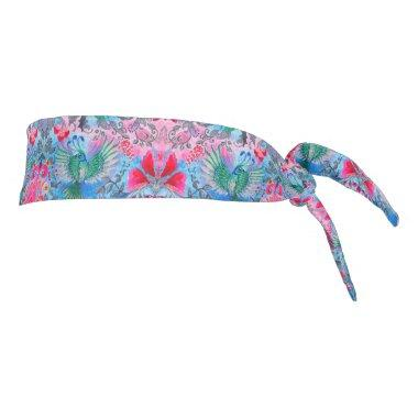 Beautiful elegant botanical vintage lux pattern tie headband
