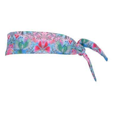 Beautiful elegant botanical vintage lux pattern tie headband