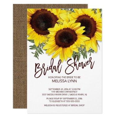 Beautiful Fall Sunflowers  Invite
