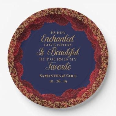 Beauty and the Beast Paper Plate