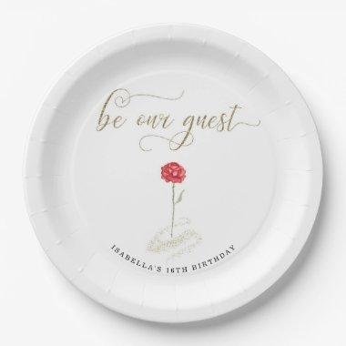 Beauty & the Beast Paper Napkins Paper Plate