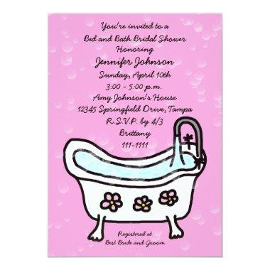 Bed and Bath Bridal Shower Invitations -- Bubbles