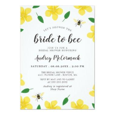 Bees & Buttercups Shower the Bride to Bee Invitations