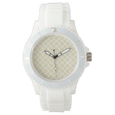 Beige Quatrefoil Watch
