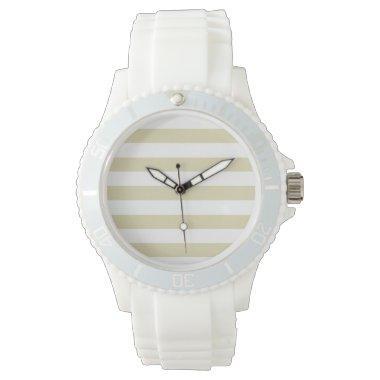 Beige Stripes; Striped Watches