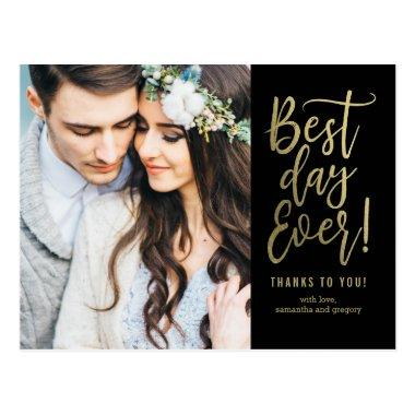 Best Day Ever EDITABLE COLOR Thank You PostInvitations