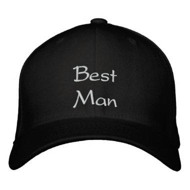 Best Man Best Embroidery Cap