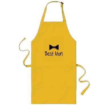Best Man Bow Tie Long Apron