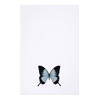 Big Blue & Black Butterfly Stationery