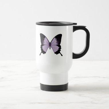 Big Purple & Black Butterfly Travel Mug