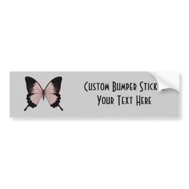Big Red & Black Butterfly Bumper Sticker
